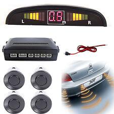 Light Gray Reversing Parking Sensor Car 4 Sensors Audio Buzzer Alarm