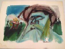 ERVIN NUSSBAUM 'VISION OF A GREAT MAGGID' Judaica Portrait, SIGNED