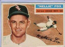 1956 Topps Baseball Card Nellie Fox HOF G/B Chicago White Sox Near Mint # 118