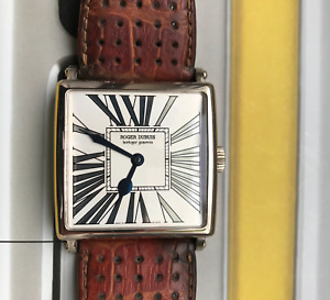 ROGER DUBUIS GOLDEN SQUARE LIMITED EDITION TO 28 PIECES 18K WHITE GOLD