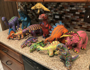 RARE HUGE Vintage 90's Determined Productions Applause Dinosaur Plush Lot of 13