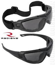 Radians Cuatro 4-in-1 Smoke/Anti Fog Safety Glasses Hybrid Goggles Foam Padded