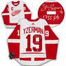 Steve Yzerman Detroit Red Wings Signed White Adidas Hockey Jersey W/ 1755 Points