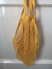 Multi Coloured Net Tote Sturdy Shopping Bag Reusable Cotton Groceries UK Despatc