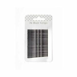 KIRBY GRIPS/BOBBY PINS EXTRA SHORT 4.5cm 36 Per Pack Black
