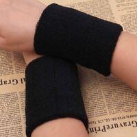 2pcs Sports Wrist Sweatbands Tennis Squash Badminton Gym Wristband Exercise Fit