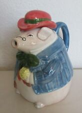 Fitz & Floyd 1987 Bacon & Eggs Teapot Pig in Bowler Hat
