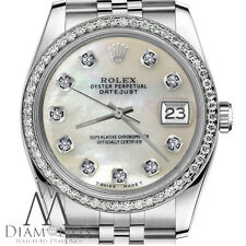 Rolex 26mm Lady Datejust White MOP Mother Of Pearl Diamond Dial Stainless Steel