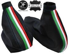 BLUE STITCH ITALIAN FLAG GEAR & HANDBRAKE GAITER FITS ALFA ROMEO 156 98-06