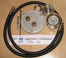 Honda CB72 CB77 Cappellini #119 engine side cover, oil filter, lines for cooler