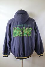 D02805 VTG 90's STARTER Notre Dame Fighting Irish Full-Zip Hooded NCAA Jacket XL