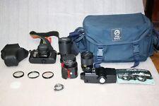 Yashica FX-3 35mm Film Camera, 7 Lens & Vivitar 283 Flash + X'S Read The Listing