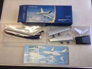 Official Aeroflot Travel Agency Model IL96 In 1/200 Scale Ilyushin Airliner