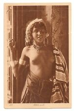 ORIG. tarjeta postal, lehnert & país rock, el norte de África, túnez, nude native Girl,' 20