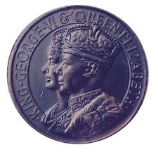 BRONZE MEDAL / KING GEORGE VI AND QUEEN ELIZABETH CROWNED / 1937 / M50