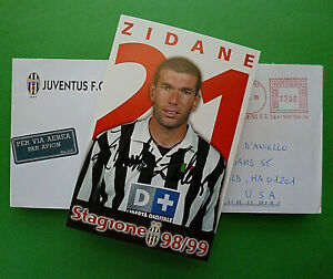 1999 Autographed photo *Zinedine Zidane* Juventus F.C. Stagione 98/99 w/ envelop