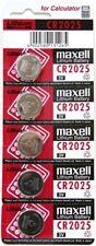 5 PCS MAXELL 3V LITHIUM COIN CELL BUTTON BATTERIES CR2016 CR2025 CR2032