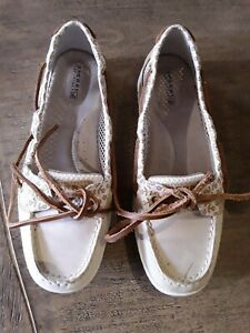 Sperry Top-Sider Ladies Boat Shoes Beige - Size UK 6.5