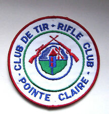 Vintage Rifle Club Patch - Club De Tir - Pointe Claire Montreal Canada - Large