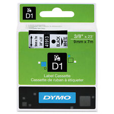 "DYMO D1 High-Performance Polyester Removable Label Tape 3/8"" x 23 ft Black on"