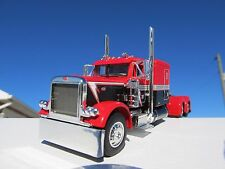 DCP 1/64 SCALE 379 PETERBILT 60'' BUNK RED,BLACK & WHITE (TRACTOR ONLY)