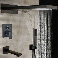"""New 3 Ways Oil Rubbed Bronze 22"""" Shower Faucet Wall Mount Bath tub Mixer Tap"""
