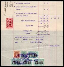 1912 Rhodesia Deceased Estate Ledger Revenue Sheet with selection Double Heads.