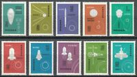 Poland 1963 MNH Mi 1437-1446 Sc 1178-1187 Conquest of space **