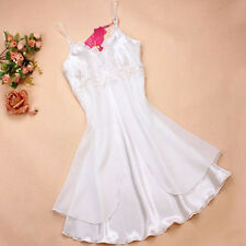Beauty Sexy Women's Summer Lace Strap Sleepwear Sexy Silk Nightgown Night Dress