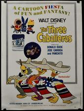 The Three Caballeros R1977 Original 30X40 Film Poster Aurora Miranda Disney