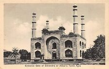 India ~ Entrance Gate of Sikrandra or Akbar's Tomb Agra - Antique POSTCARD