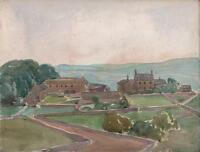 GEORGE GRAINGER SMITH Watercolour Painting WEST WHARMLEY NORTHUMBERLAND c1930