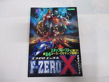 N64 -- F Zero X Guide Book -- JAPAN Game Book. 23645