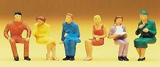 Preiser 14095 Sitzende Personen H0 6 Figuren handbemalt Neu