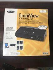 Belkin Omniview 4-Port Kvm Switch E Series New
