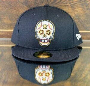 Houston Astros Sugar Skull Dia de Muertos Day of the Dead New Era Hat Size 7 3/4