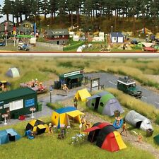 HO Busch Campground / Camping Scene with Tents KIT # 6044