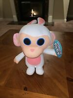 "Wonder Park Bunny Rabbit Pink Ears Big Head Monkey Plush Stuffed 10"" Zombie VGUC"