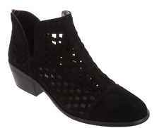 4*21 NEW Vince Camuto Black Phortiena Suede Cutout Booties Size 9.5 M