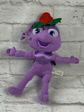 "Disney's A Bugs Life Dot Plush 11"" Purple Ant Toy"