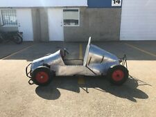Vintage Aluminum Body Go Kart 1950 1960 Hand Made Folk Art McCulloch Racing