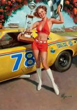 Cars Vintage Pin-Ups Art Posters