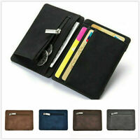 Mens Leather Bifold Slim Wallet Credit/ID Card Holder Coin Money Clip Purse Gift