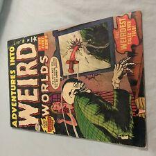 ADVENTURES INTO WEIRD WORLDS #11 Pre Code 1952 Atlas Bill Everett Cover B VG