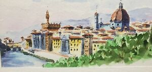 Watercolor Painting Of Florence Italy