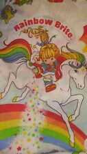 Vintage 1983 Hallmark Rainbow Brite Twin Flat Sheet Bright Colors