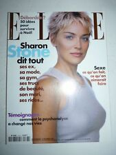 Magazine mode fashion ELLE French #2763 14 décembre 1998 Sharon Stone