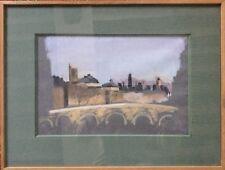 Zoum WALTER 1902-1974 (Julienne W.dite).Vue du Pont des Arts.1956.Pastel.SBD.