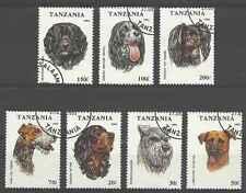 Timbres Chiens Tanzanie 1421/7 o lot 26582