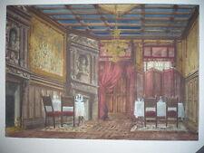 GOUACHE  DESSIN D'ARCHITECTURE AUTHENTIQUE 19° SIECLE
